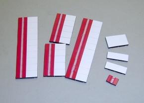 Satz Kippmagnete für Stundenplan, violett mit Streifen / weiß