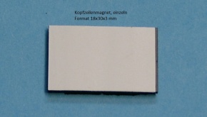 Kopfzeilenmagnet zur Kennzeichnung der Klasse 18x30mm, weiß