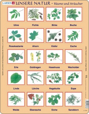 Puzzle - Bäume und Sträucher- Format 36,5x28,5 cm, Teile 20