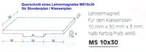 Magnetsymbol für Stundenplan, halb gelb/halb weiß