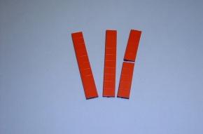 Satz Kippmagnete für Zusatzpläne, rot