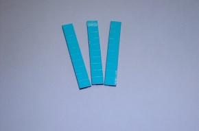 Satz Kippmagnete für Zusatzpläne, hellblau