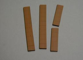 Satz Kippmagnete für Zusatzpläne, braun
