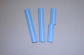 Satz Kippmagnete für Zusatzpläne, hellblau mit Streifen