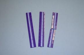 Satz Kippmagnete für Zusatzpläne, violett mit Streifen