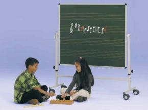 Fahrbare Musiknotentafel mit 2,5cm Notenlineatur