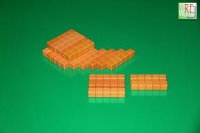 Farbige Dienes Fünferstäbe 20 Stück aus RE-WOOD®, orange