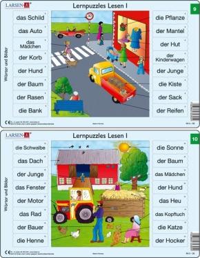 Puzzle - Lernpuzzles Lesen I (9 und 10) Format je Puzzle 28,5x18
