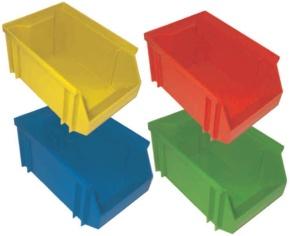 Stapelbox, rot, klein, 14x8x6 cm