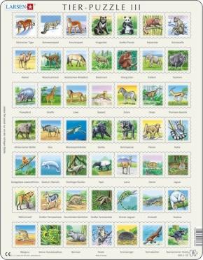 Puzzle - Tiere 3, Format 36,5x28,5 cm, Teile 49